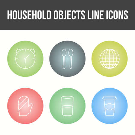 Unique Household Objects Vector Icon Set 免版税图像 - 157540883