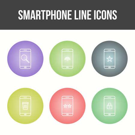 Mobile Apps Vector Icon Set 免版税图像 - 157540889