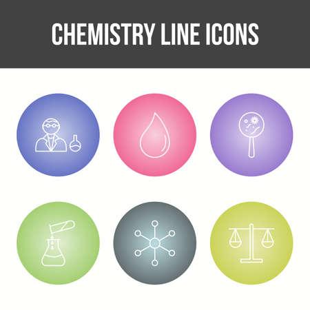 Unique Chemistry Line Vector Icon Set 免版税图像 - 157540865