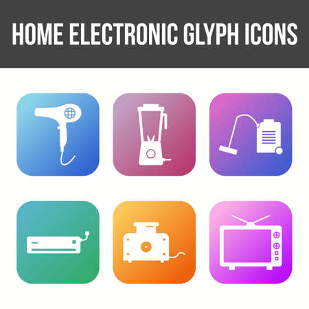 Unique Home electronics Vector Icon Set 免版税图像 - 157540867