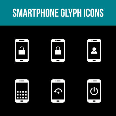 Mobile Apps Vector Icon Set 免版税图像 - 157540870