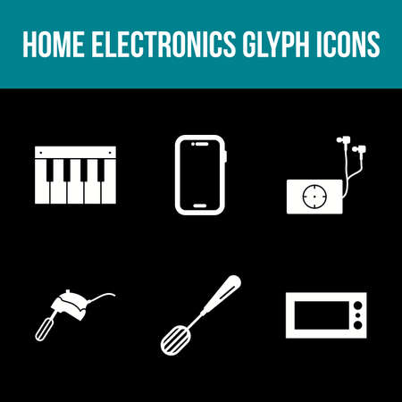 Unique Home Electronics Glyph Icon Set