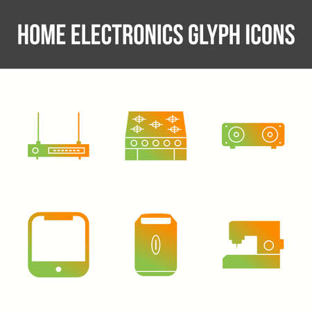 Unique Home Electronics Glyph Icon Set