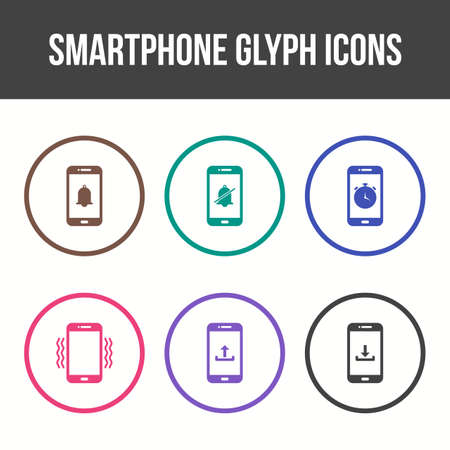 Smartphone and Mobile Apps Vector Icon Set