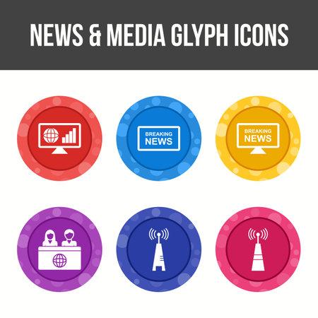 Unique News and Media Vector Icon Set
