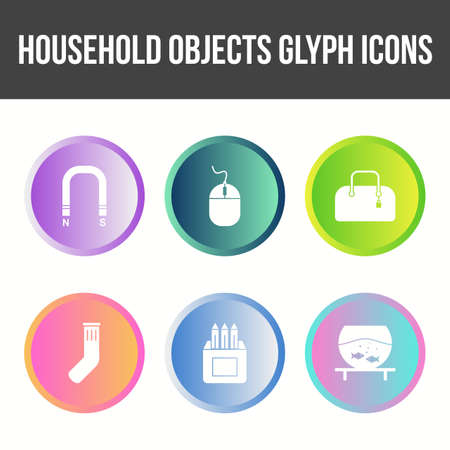 Unique Household Objects Vector Icon Set 矢量图像