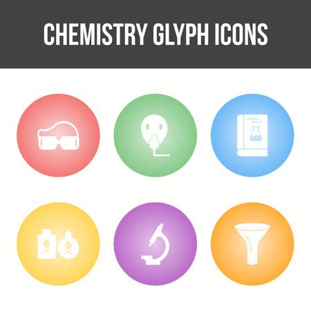 Unique Chemistry Glyph Vector Icon Set