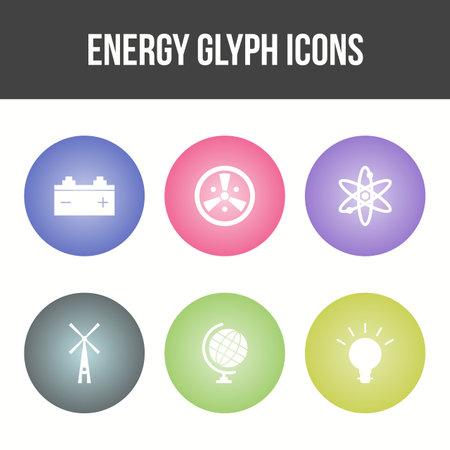 Beautiful Unique Energy Vector Icon Set 矢量图像