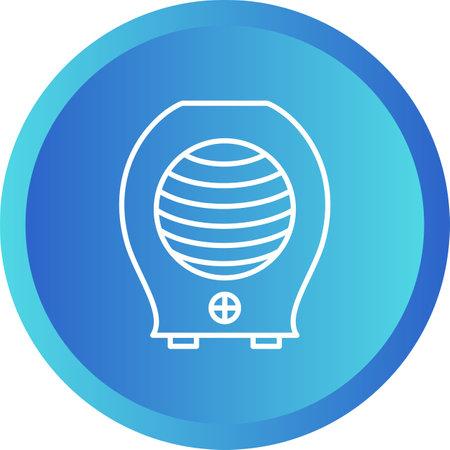 Unique Heater Line Vector Icon