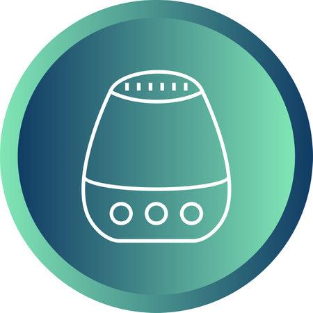 Unique Air Purifier Line Vector Icon