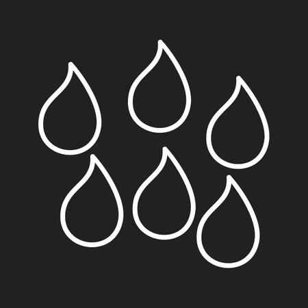 Unique Humidity Line Vector Icon