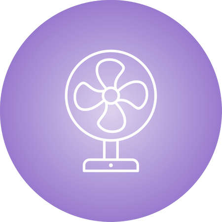 Unique Electric Fan Line Vector Icon