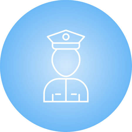 Unique Airport Security Line Vector Icon