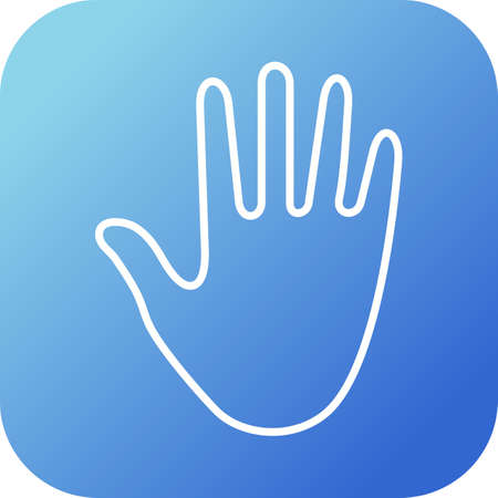 Hand sign vector line icon