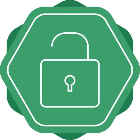 Open lock line vector icon` Vectores