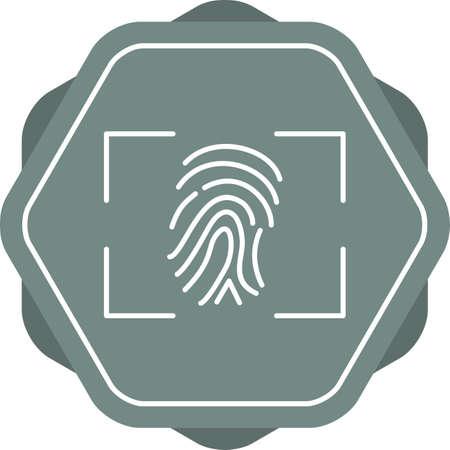 Beautiful Fingerprint line vector icon 向量圖像