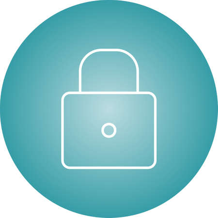 Beautiful locked vector line icon