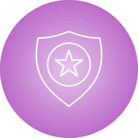 Police badge line vector icon