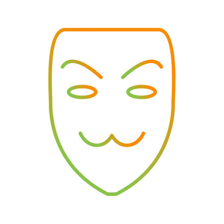 Beautiful Unique vector icon of hacker mask