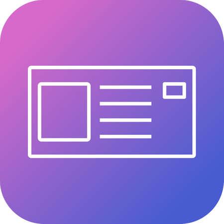 Identity cad line vector icon 向量圖像