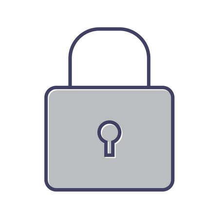 Beautiful lock line vector icon