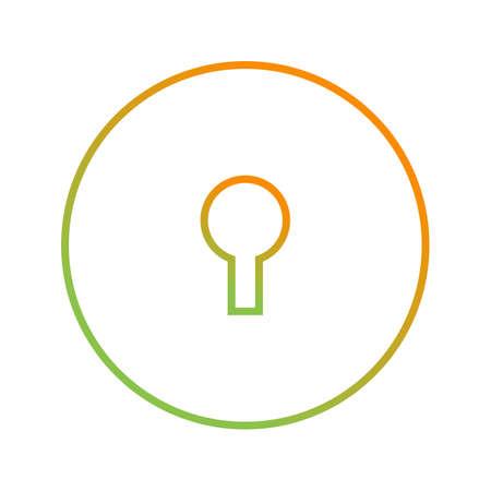 Unique icon of key hole