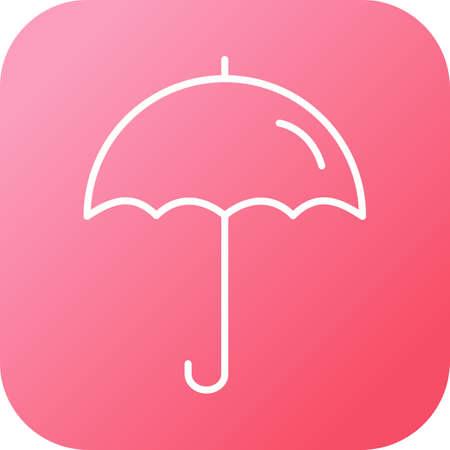 Unique line black icon of umbrella 向量圖像