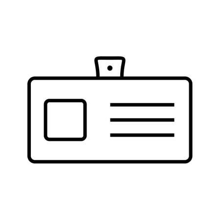 identity card line vector icon 向量圖像