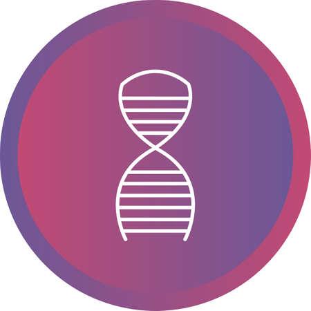 Unique Dna Structure line vector icon