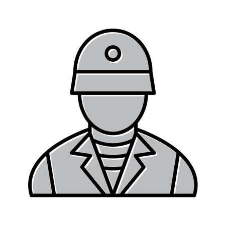 Unique Soldier Vector Line Icon