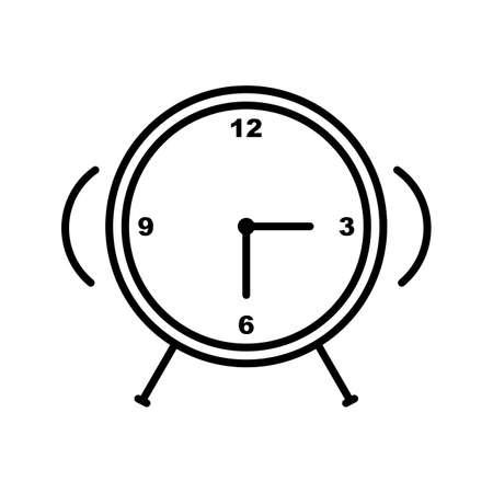 Unique Alarm clock line vector icon
