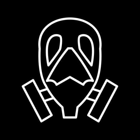 Unique Oxygen Mask Vector Line Icon