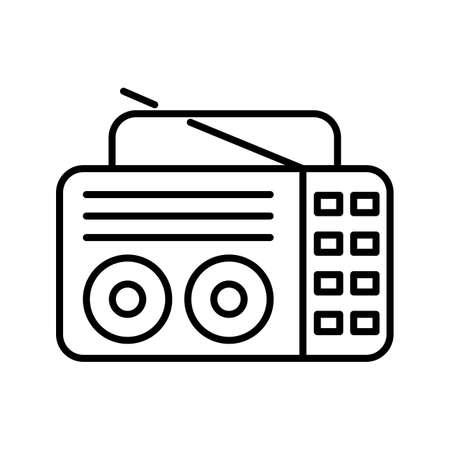 Unique Old Radio Line Vector Icon