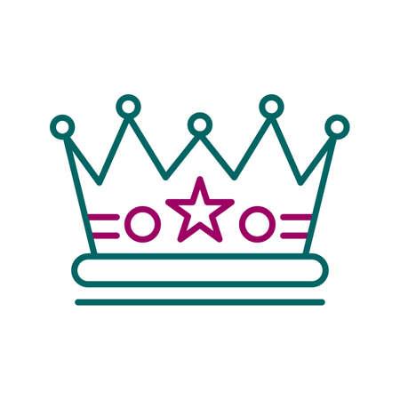 Unique Crown Line Vector Icon 向量圖像