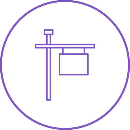Unique Post Sign Line Vector Icon