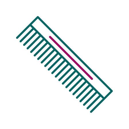 Unique Comb Line Vector Icon 向量圖像