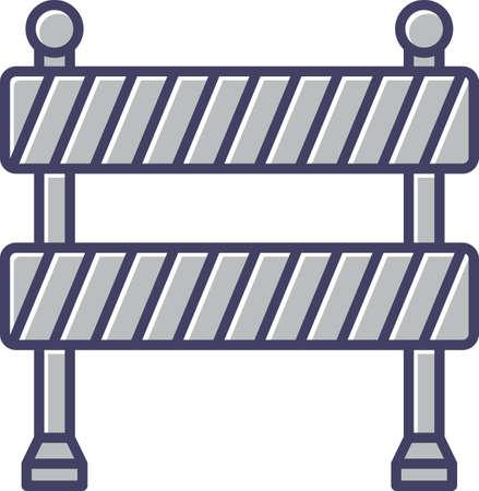 Unique Barricade Line Vector Icon
