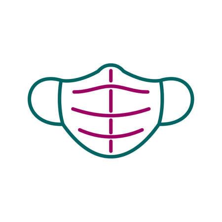 Unique Mask Line Vector Icon