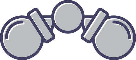 Unique Binoculars Line Vector Icon 向量圖像
