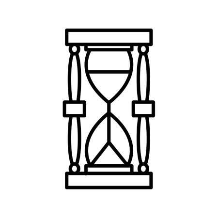 Unique Sand Glass Line Vector Icon