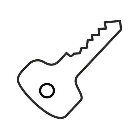 Unique Key Line Vector Icon 向量圖像