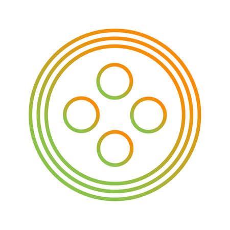 Unique Button Line Vector Icon 向量圖像