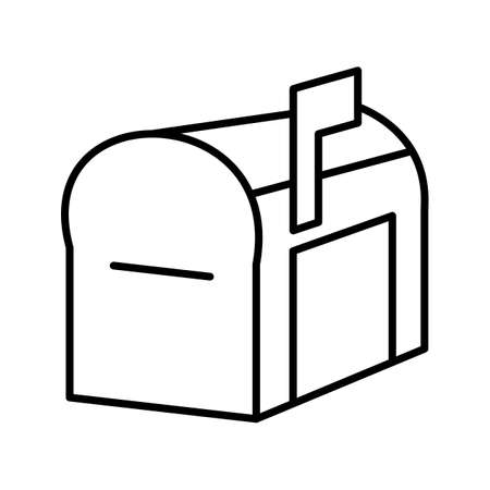 Unique Mailbox Line Vector Icon
