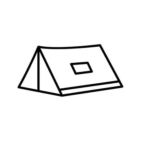 Unique Tent Line Vector Icon