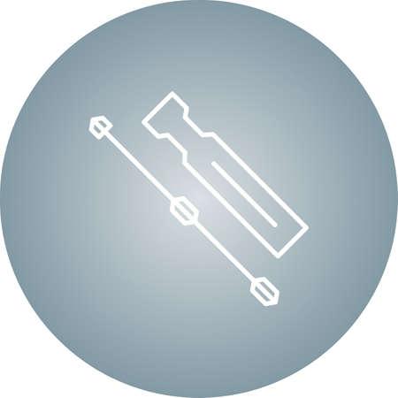 Unique Screwdriver Line Vector Icon 向量圖像