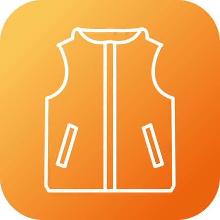 Unique Vest Line Vector Icon