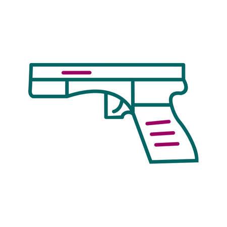 Unique Gun Line Vector Icon