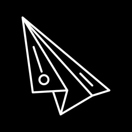 Unique Paper Plane Line Vector Icon 向量圖像