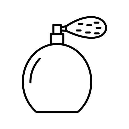 Unique Perfume Bottle Line Vector Icon