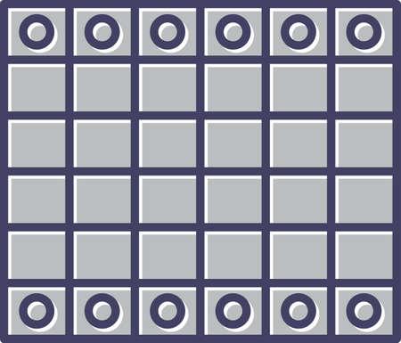 Unique Chessboard Line Vector Icon